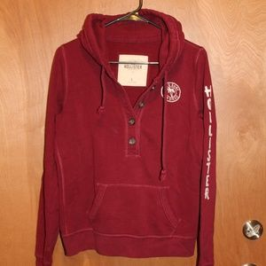 Hollister button Hoodie L